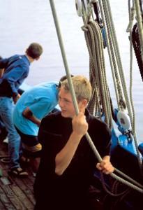 Les enfants à bord de Notre-Dame de Rumengol - Photo Jean-Yves Goujard