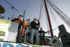 Musiciens à bord de Notre-Dame de Rumengol