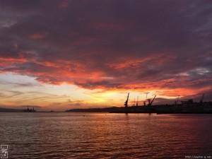 Coucher de soleil sur la rade de Brest - Photo sophie-g.net