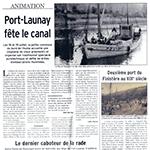 Brochure du 19 juillet 2003 : Port-Launay fête le canal