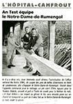 Le Télégramme 6 Avril 2004 : fabrication du bout-dehors de Notre-Dame de Rumengol
